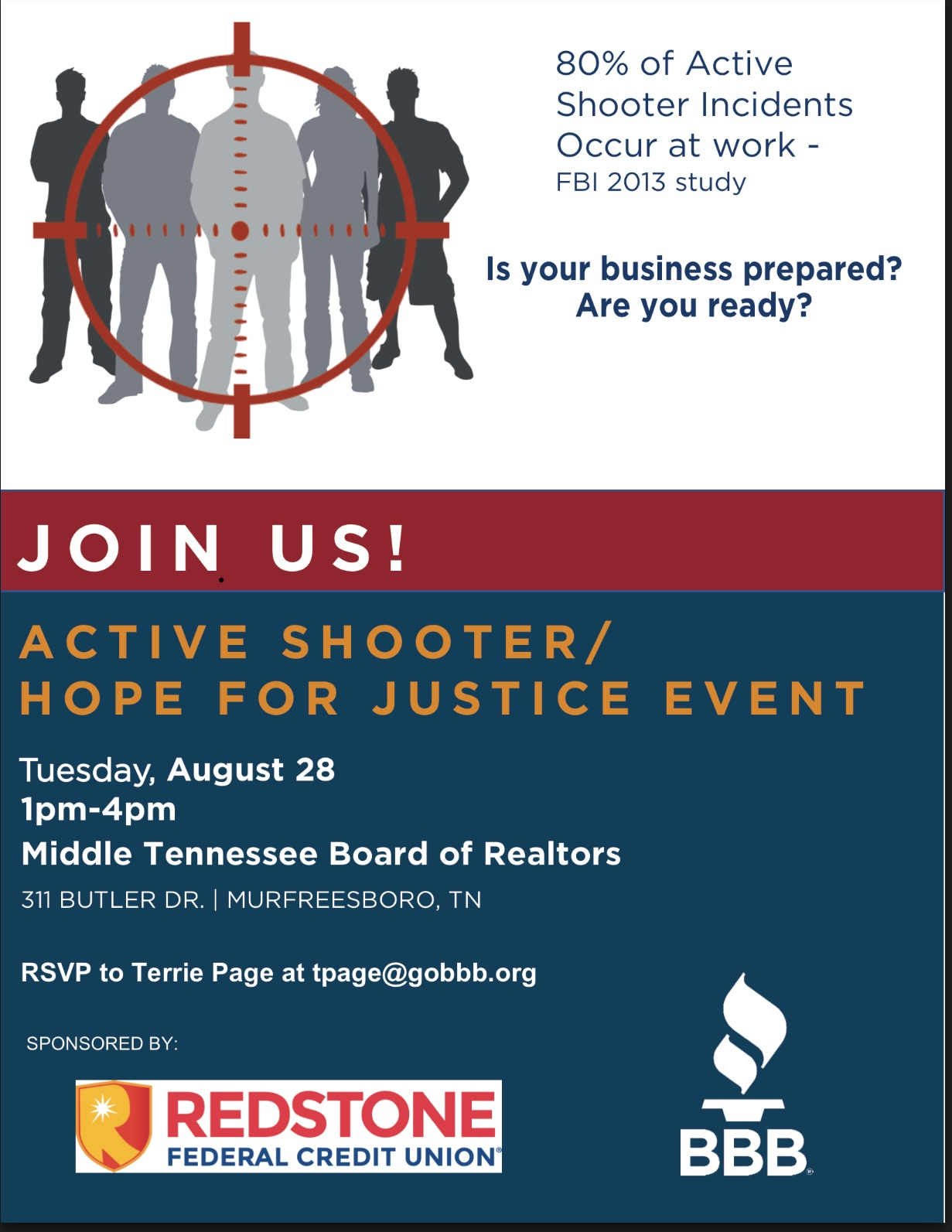 BBB Active Shooter Training | Tim Montgomery, CPA PLLC